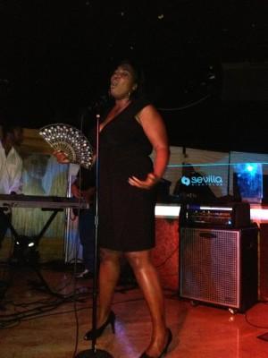 Terri Tobin performing
